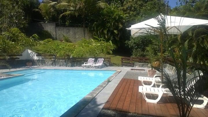 gîte sans vis à vis vue piscine