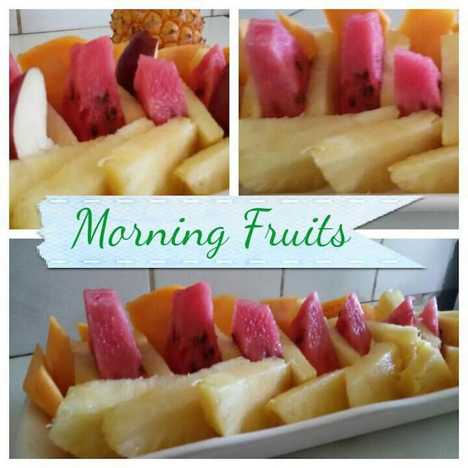 Start your morning with a Fruit Platter from my mum!!