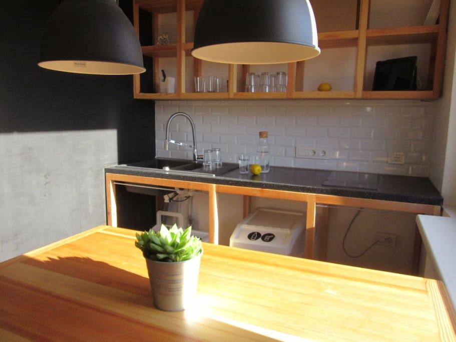Kitchen - handwork furniture and aesthetic design.