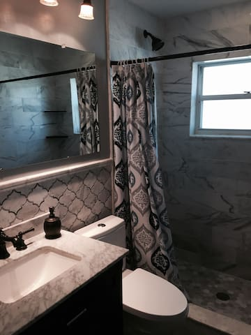 New Carrera Marble shower