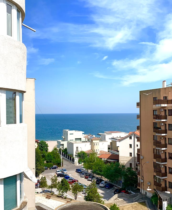 White apartment with great sea view