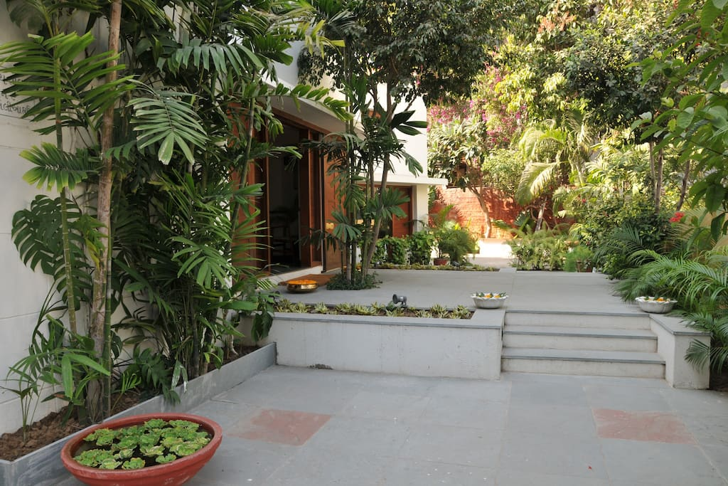 Utelia House with its lush green Garden is an abode of peace and tranquility.