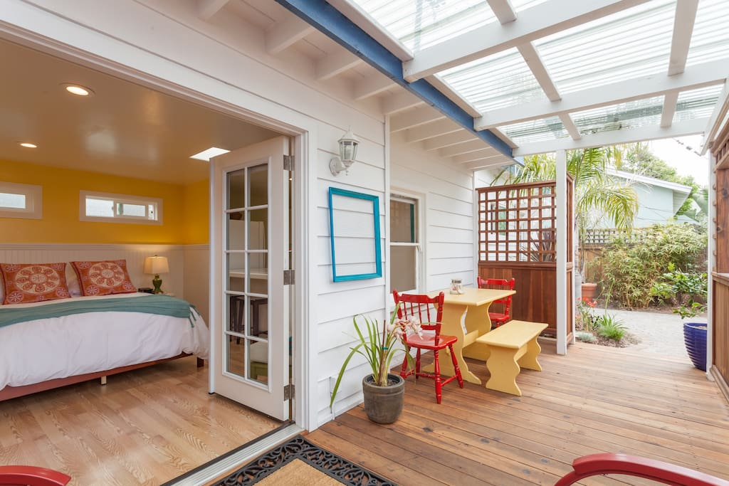 French doors welcome you to the veranda
