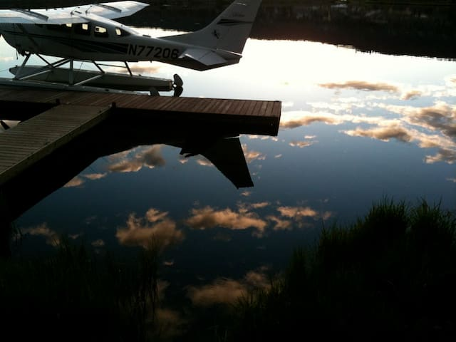 Sky Harbor: Floatplane Lake Cabin