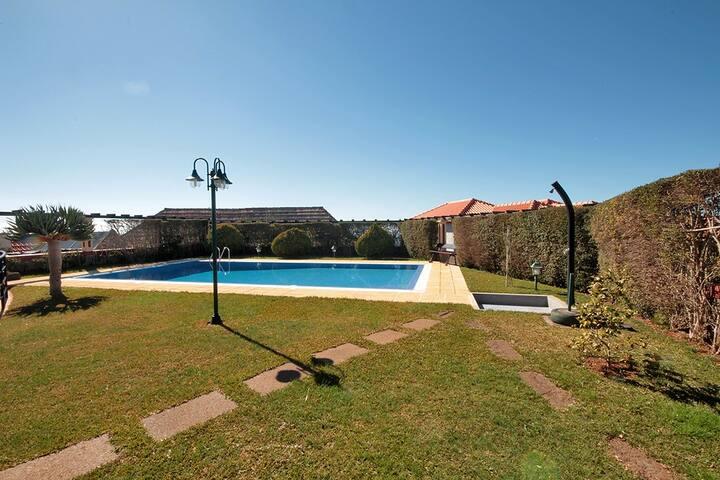 Pool, garden and solar shower