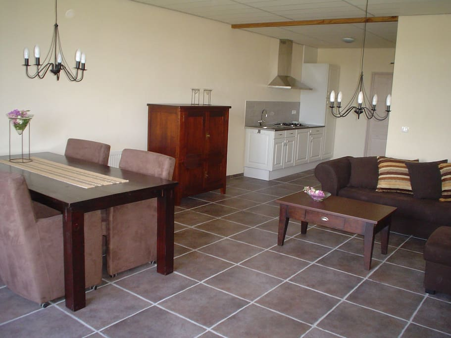 Indeling woonkamer en keuken