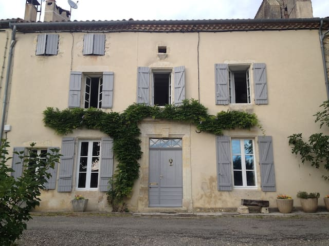 Location grande maison de famille - La Romieu - Casa