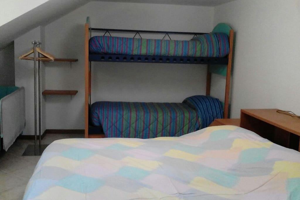 una delle camere al 3 piano