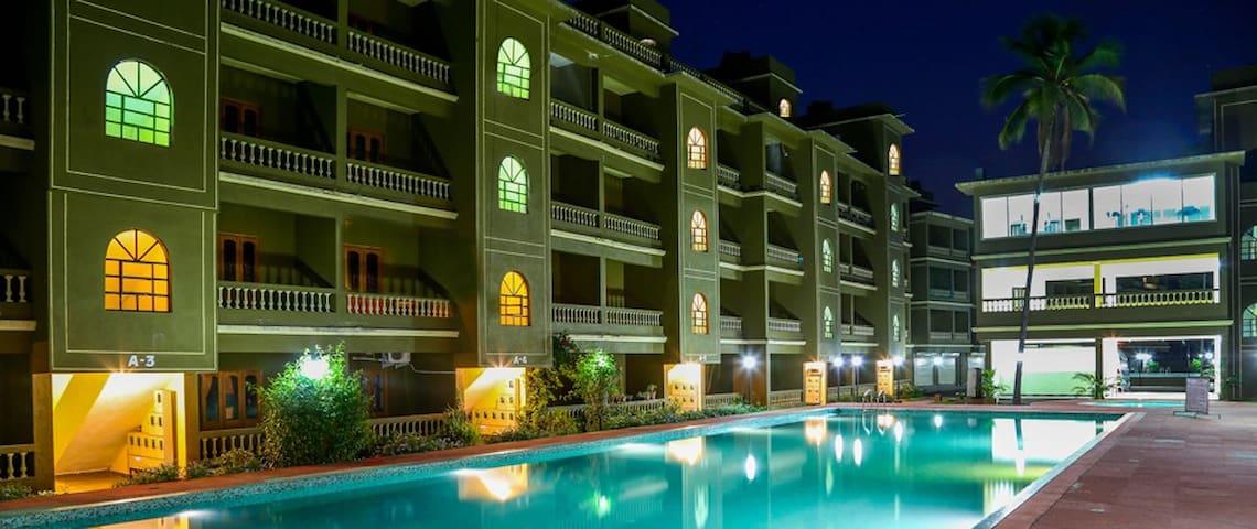 1 BHK Resort Apartment Siolim - North Goa - Appartement
