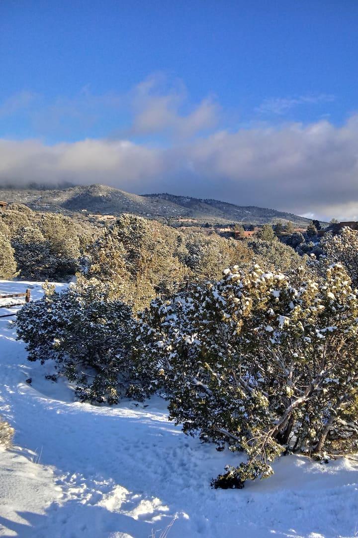 The Mountain range near Canyon Road i