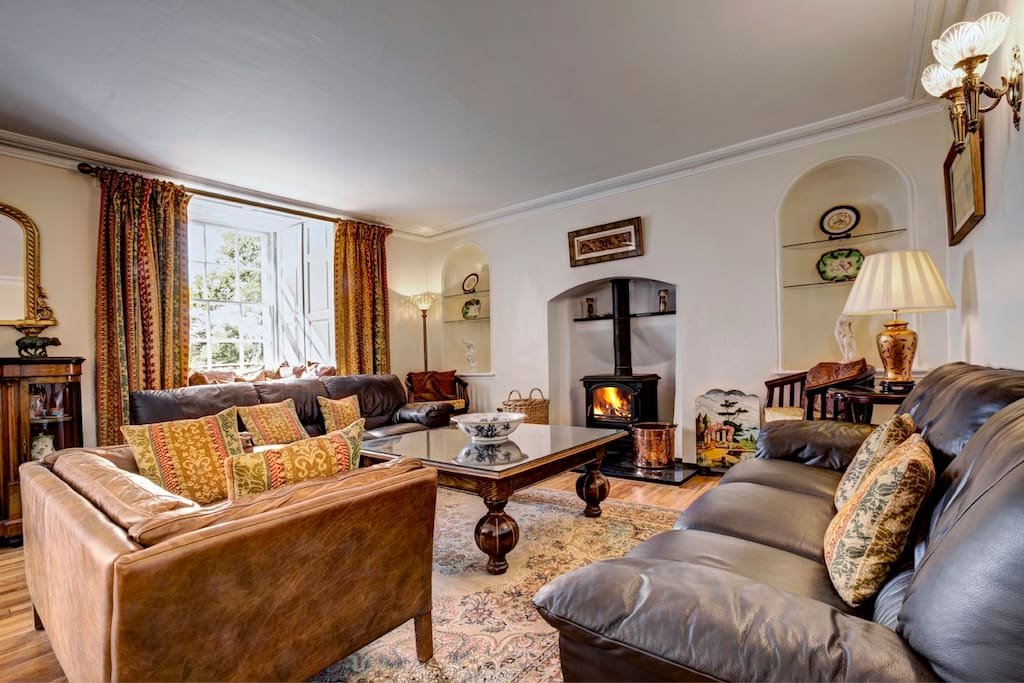 Guest Living Room with cosy Wood Burning Stove