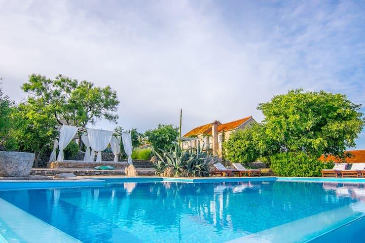 Sea view villa Dvori Sv. Jurja - Jelsa - Villa