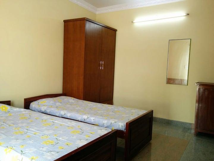 A cozy terrace room