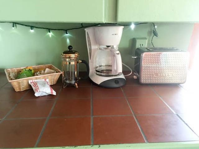 French Press or Drip-style Coffee Makers. We also provide Herbal and Organic Tea .