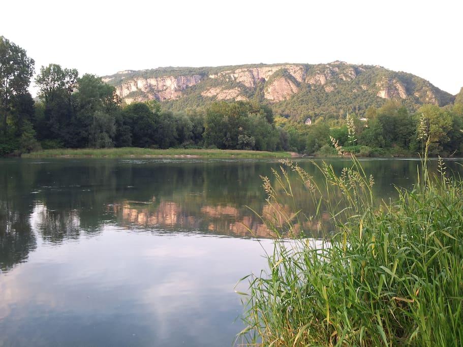 Soirée au bord du Rhône