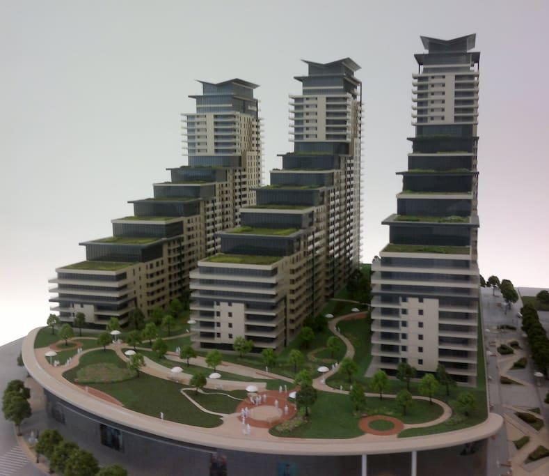 Port Baku residence view
