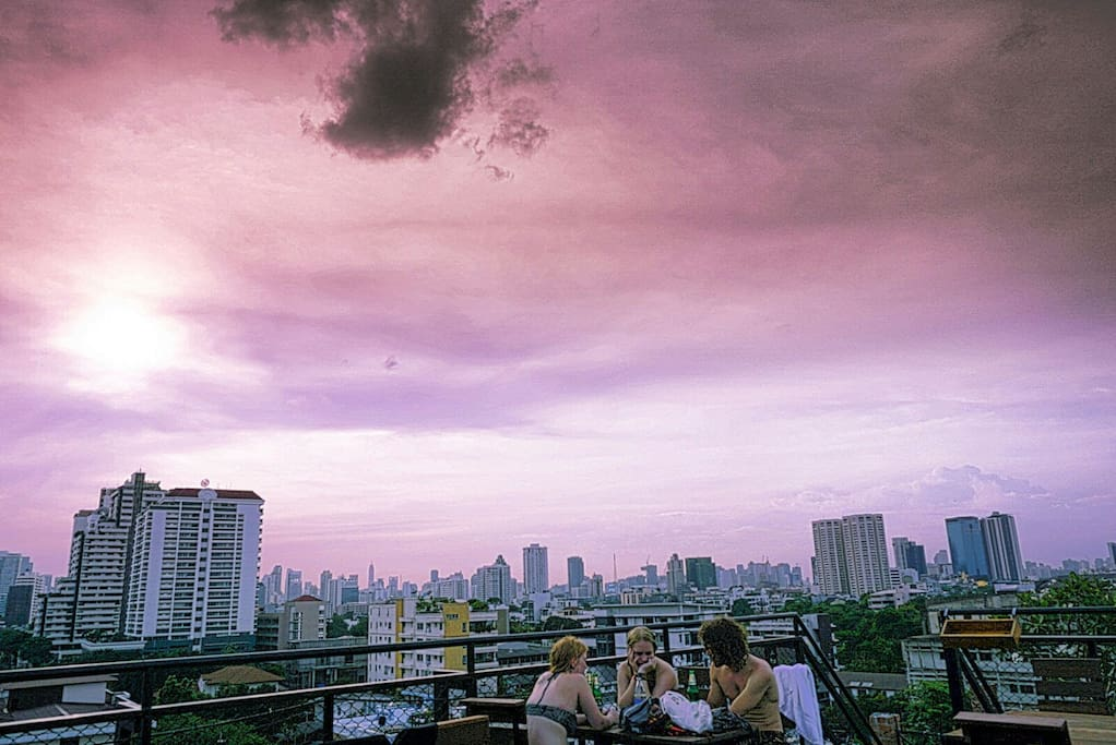 Sunset View Rooftop terrace