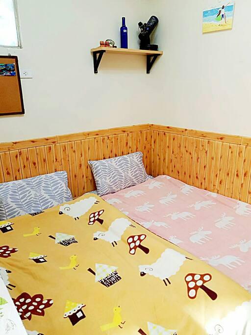 和式客房 (住宿空間約6.5坪) #標準單人床墊*2 #和式桌 #衣櫥 #空氣清淨機