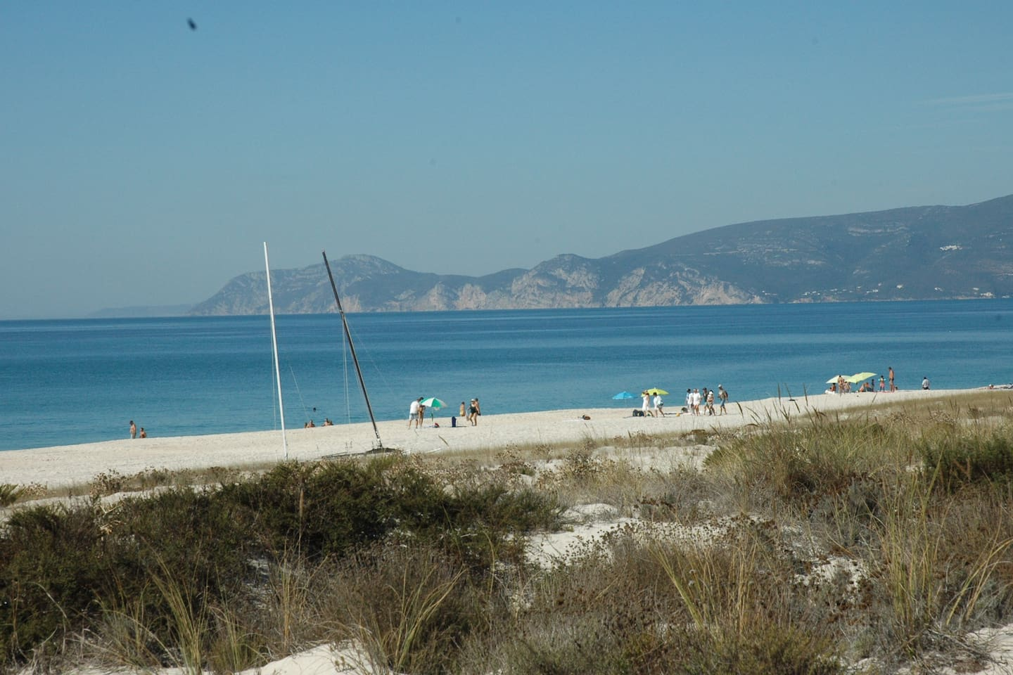 Beach with views to Serra de Arrabida