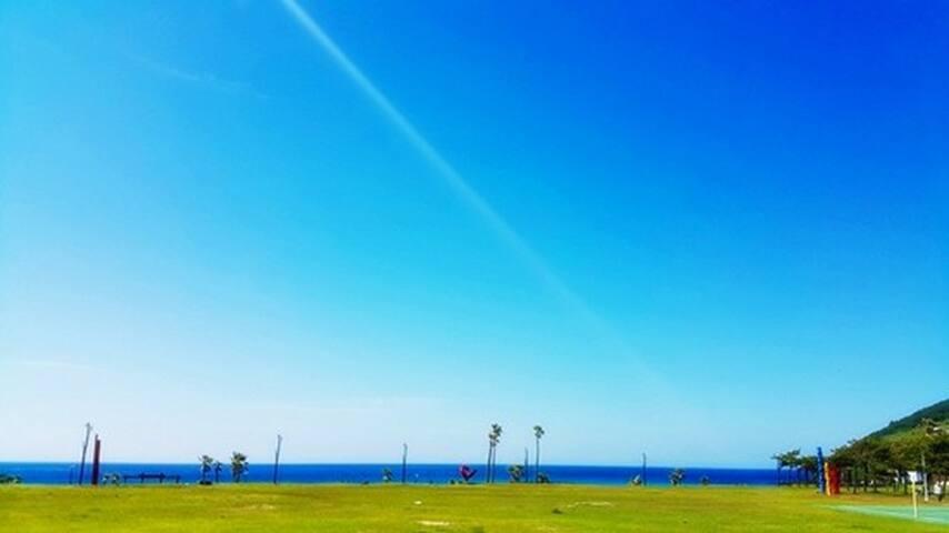Jeju Ocean View Apartment 함덕해수욕장 5분 - Jochon-eup, Jeju-si - Lejlighed