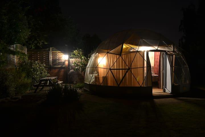 ...and at night