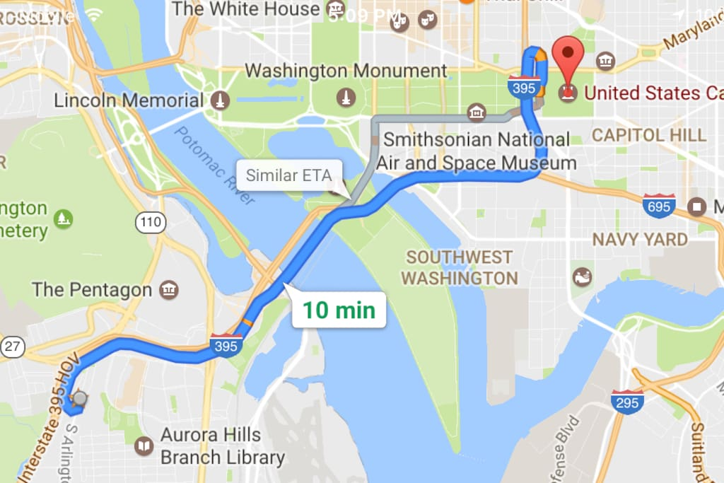 distance to the Inauguration!