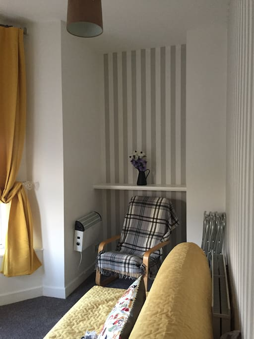 Alternative view of living room/second bedroom.
