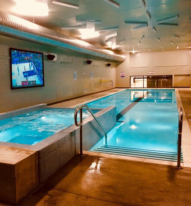 Indoor Salt Water Pool & Hot Tub