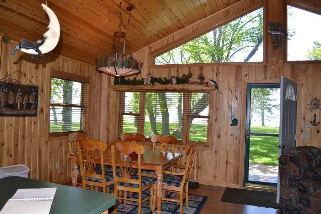 Enjoy beautiful lake views while you dine!
