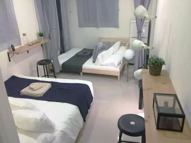 Cozy Studio for 1-4 Guests - Ximen MRT 3 min walk