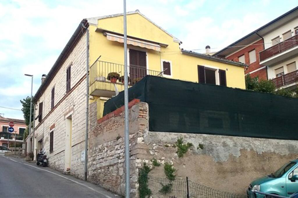 Vista appartamento (parte in giallo)