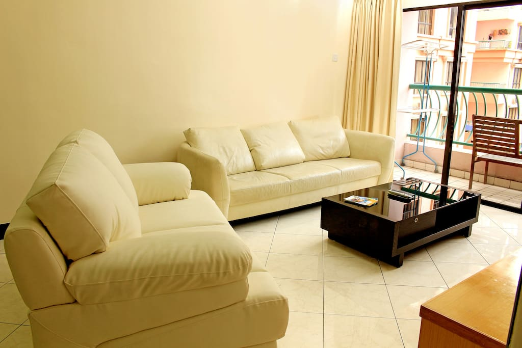 3 Bedroom Pool View Apartment- Spacious Living Area
