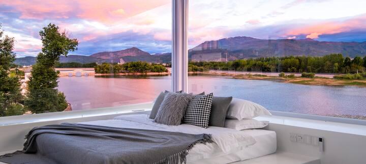 这里集湖景-雪山-星空-夕阳-日照金山-超级豪华90平大套房-房间打卡超级nian赛了-丽江独一无二