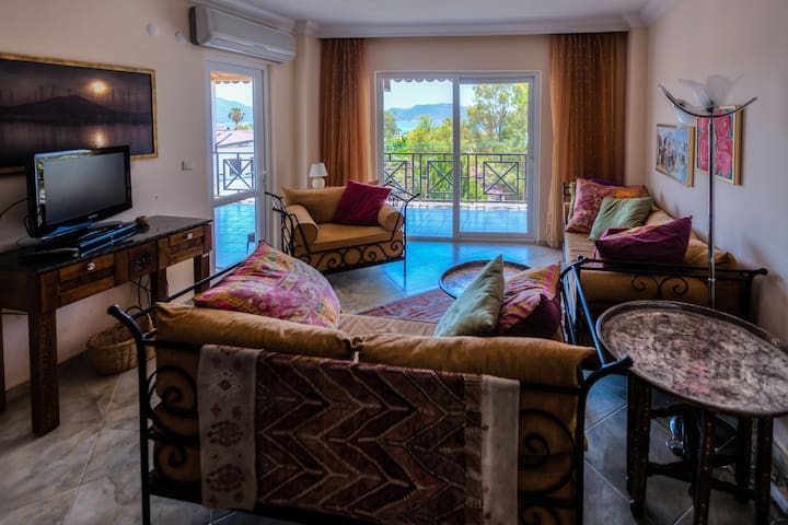 2br/2ba Kaş center apt w/seaview - Kaş