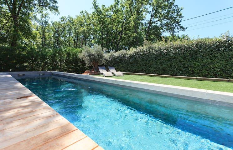 LUBERON Gîte HDG 2p piscine privée ttconfort calme - ROUSSILLON   - Pis