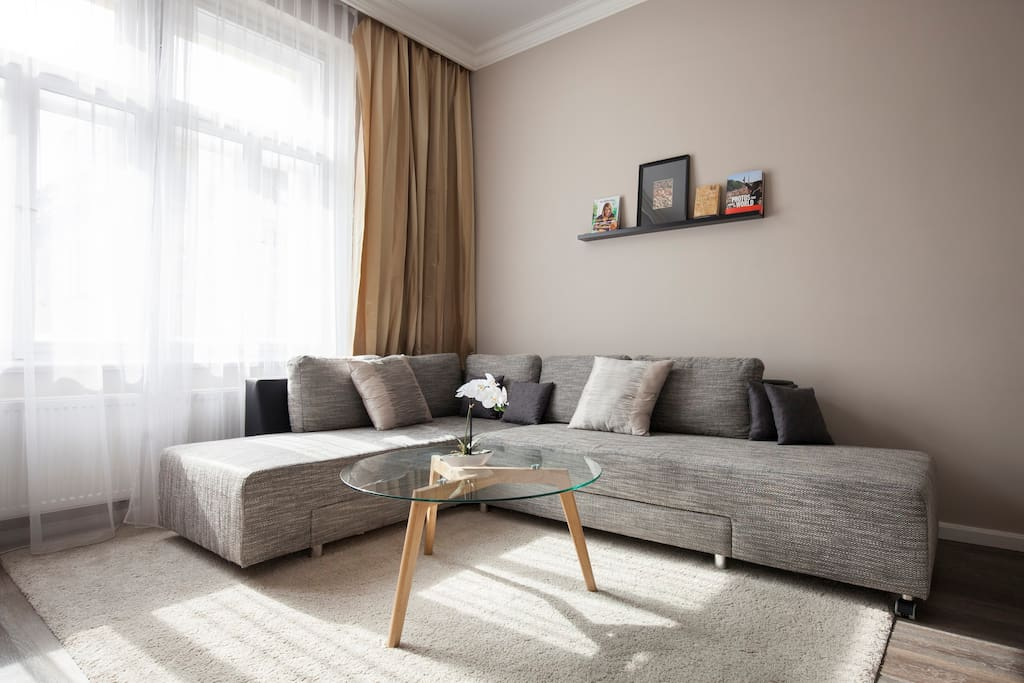 Highly comfortable sofa in the living room