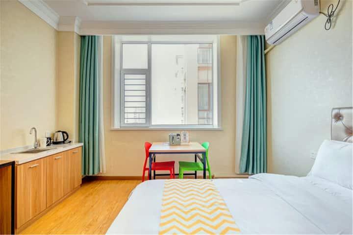 【派公寓】舒适双床家庭房/北美N1/奥斯卡/高铁站/飞机场