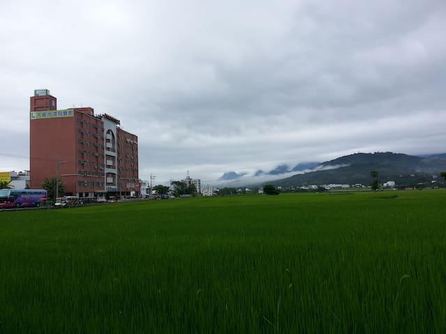 池上美景第一排  美景2大床可4人 - 池上鄉 Chishang Township - Apartment