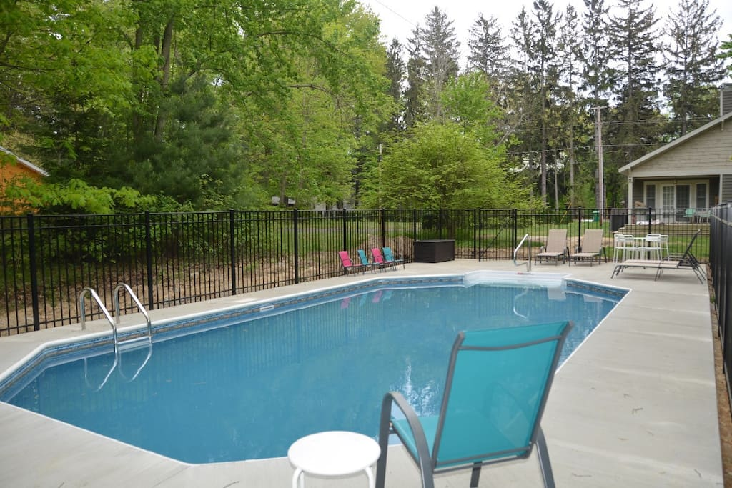 Private fenced in pool in back yard.