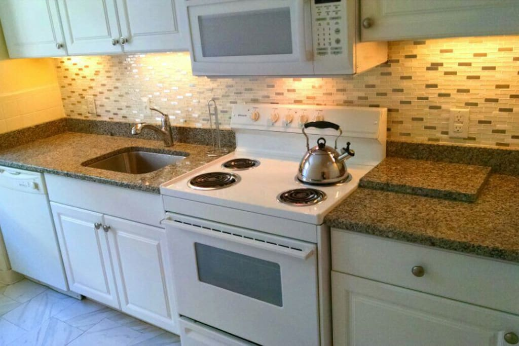 Newly remodeled separate full kitchen
