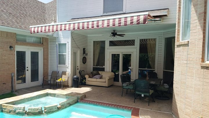 Roomy Suite(COX) in Plano West(heated Pool/Spa)