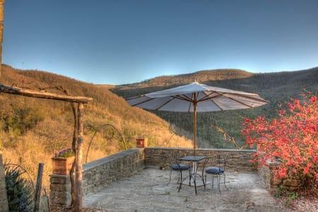 Private Cottage with beautiful view near Cortona - Cortona - Wohnung
