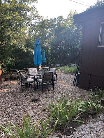 One of three patio sets around the property where you are to enjoy your days and nights.