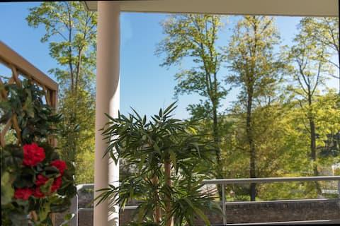 Studio récent, lumineux et calme 55m2+balcon 15m2