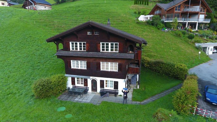 Best View in Engelberg family flat