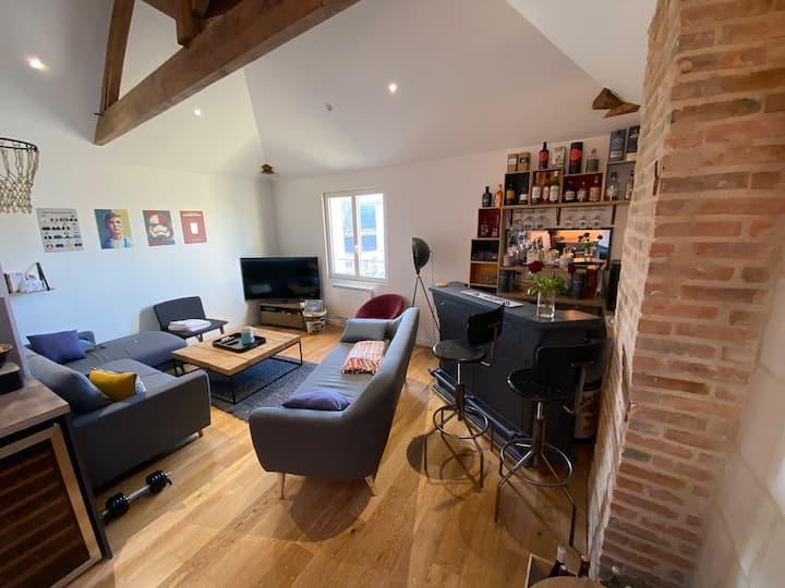 Duplex 70m2 chaleureux design et charme ANGERS CHU