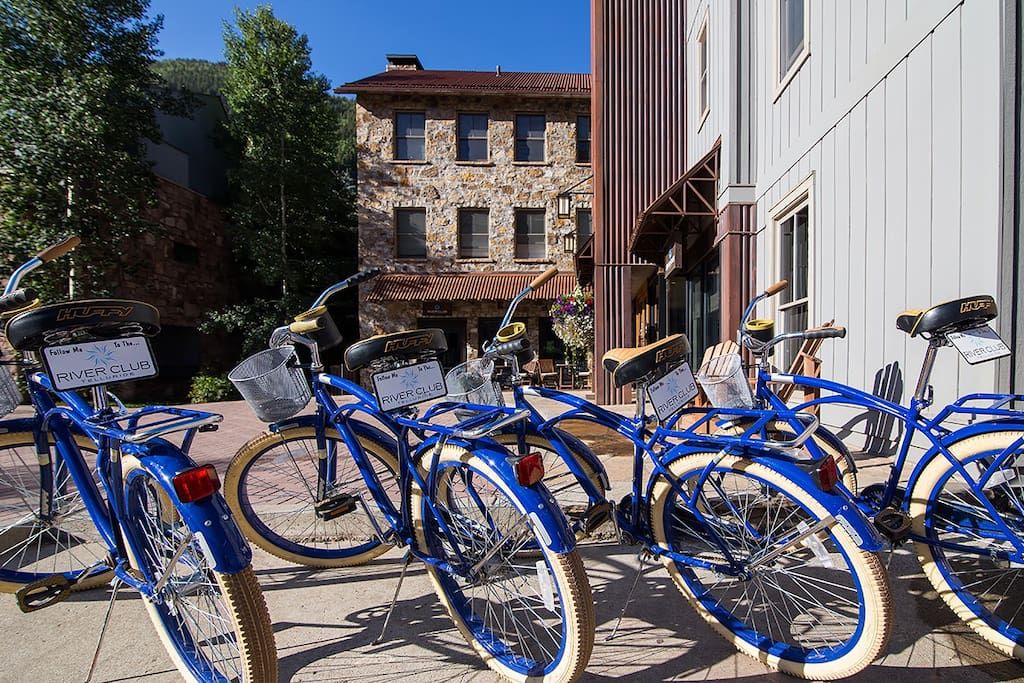 Did someone say bicycles? Take a ride around town on these babies!