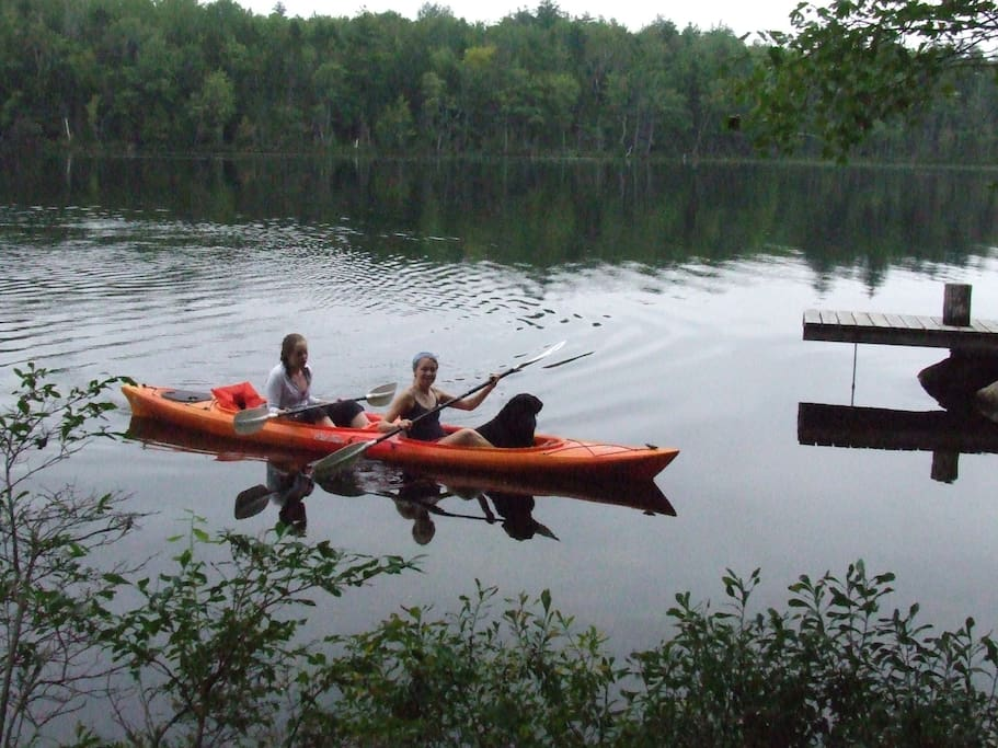 Just 20 feet from the water. Kayak and canoe included. Great swimming area!