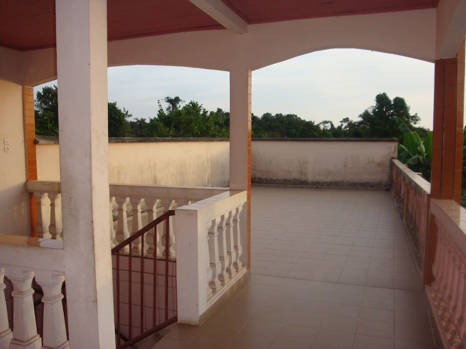 terrasse commune couverte