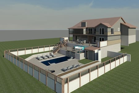 2017 Pool, Dock,  Decks, Fire Pit, & Hot Tub - Lake Ozark